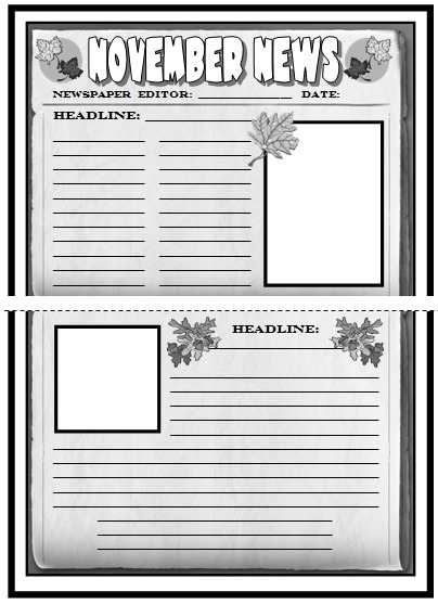 Newspaper Article Template For Students Printable Idealstalist