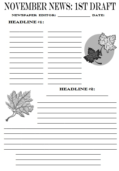 Free Printable Newspaper Template For Students Newspaper Article Template Printable Quotes