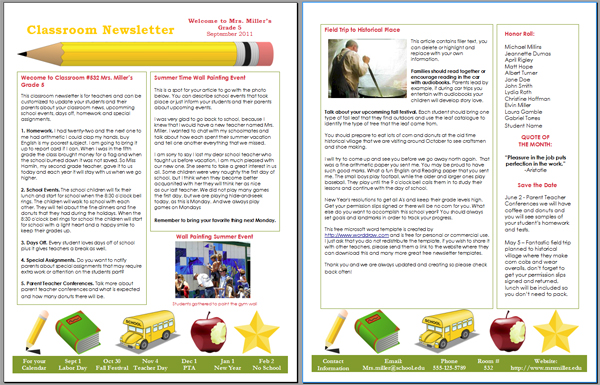 Newsletter Templates Ms Word  Microsoft Word Newsletter Templates Free Download